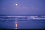 Moon over Pacific Ocean, Olympic Peninsula, Washington