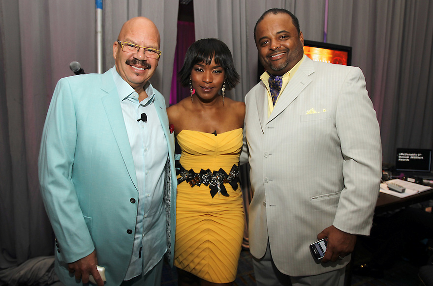 Hosts Tom Joyner, Actress Angela Bassett and Roland Martin attends  the 8th Annual 365 Black Awards at the Ernest N. Morial Convention Center in New Orleans, LA on Friday July 1,2011.(AP Photo/ Donald Traill)
