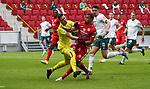 Sport: Fussball: 1. Bundesliga:: nphgm001:  Saison 19/20: 33. Spieltag: 1. FSV Mainz 05 vs SV Werder Bremen 20.06.2020<br />Robin Quaison (Mainz), Jiri Pavlenka (Werder),<br /> Foto: Bratic/rscp-photovia/via gumzmedia/nordphoto<br /><br />DFL regulations prohibit any use of photographs as image sequences and/or quasi-video.<br />EDITORIAL USE ONLY.<br />National and international News-Agencies OUT.<br /><br />  DFL REGULATIONS PROHIBIT ANY USE OF PHOTOGRAPHS AS IMAGE SEQUENCES AND OR QUASI VIDEO<br /> EDITORIAL USE ONLY<br /> NATIONAL AND INTERNATIONAL NEWS AGENCIES OUT