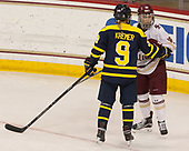 Dominique Kremer (Merrimack - 9), Makenna Newkirk (BC - 19) - The number one seeded Boston College Eagles defeated the eight seeded Merrimack College Warriors 1-0 to sweep their Hockey East quarterfinal series on Friday, February 24, 2017, at Kelley Rink in Conte Forum in Chestnut Hill, Massachusetts.The number one seeded Boston College Eagles defeated the eight seeded Merrimack College Warriors 1-0 to sweep their Hockey East quarterfinal series on Friday, February 24, 2017, at Kelley Rink in Conte Forum in Chestnut Hill, Massachusetts.