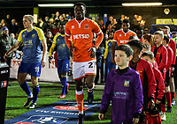 Blackpool's Marc Bola<br /> <br /> Photographer Andrew Kearns/CameraSport<br /> <br /> The Emirates FA Cup Second Round - Solihull Moors v Blackpool - Friday 30th November 2018 - Damson Park - Solihull<br />  <br /> World Copyright © 2018 CameraSport. All rights reserved. 43 Linden Ave. Countesthorpe. Leicester. England. LE8 5PG - Tel: +44 (0) 116 277 4147 - admin@camerasport.com - www.camerasport.com