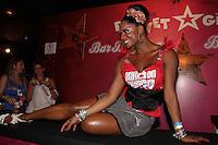 SAO PAULO, SP, 19 DE FEVEREIRO 2012 - CAMAROTE BAR BRAHMA - Adriana Bombom e vista no Camarote Bar Brahma, no primeiro dia de desfiles do Grupo Especial do Carnaval de Sao Paulo, na madrugada deste domingo 19, no Sambodromo do Anhembi regiao norte da capital paulista. (FOTO: MILENE CARDOSO - BRAZIL PHOTO PRESS).