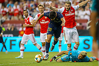 Landover, MD - July 23, 2019: Real Madrid Marco Asensio (20) scores a goal during the match between Arsenal and Real Madrid at FedEx Field in Landover, MD.   (Photo by Elliott Brown/Media Images International)