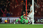 Junior Stanislas of Bournemouth free kick goes past Manchester United goalkeeper David De Gea<br /> - Barclays Premier League - Bournemouth vs Manchester United - Vitality Stadium - Bournemouth - England - 12th December 2015 - Pic Robin Parker/Sportimage