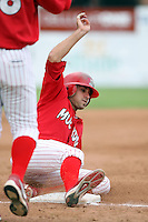 August 3rd 2008:  Colt Sedbrook of the Batavia Muckdogs, Class-A affiliate of the St. Louis Cardinals, during a game at Dwyer Stadium in Batavia, NY.  Photo by:  Mike Janes/Four Seam Images