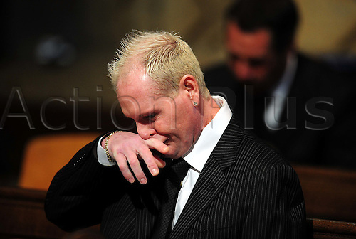 Paul Gascoigne during the Sir Bobby Robson Thanksgiving Service at Durham Cathedral, Durham. Photo: Owen Humphreys/actionplus : 21.9.2009