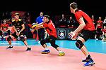 14.09.2019, Paleis 12, BrŸssel / Bruessel<br />Volleyball, Europameisterschaft, Deutschland (GER) vs. Belgien (BEL)<br /><br />Annahme Denys Kaliberda (#6 GER)<br /><br />  Foto © nordphoto / Kurth