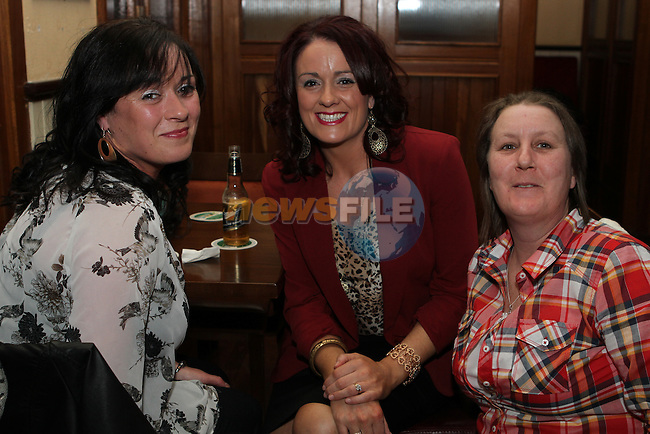 Mary Cluskey, Dolores Traynor and Babs Campbell in the Thatch...(Photo credit should read Jenny Matthews/NEWSFILE)...