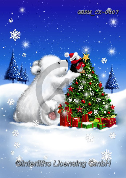 Roger, CHRISTMAS ANIMALS, WEIHNACHTEN TIERE, NAVIDAD ANIMALES, paintings+++++,GBRMCX-0007,#xa#