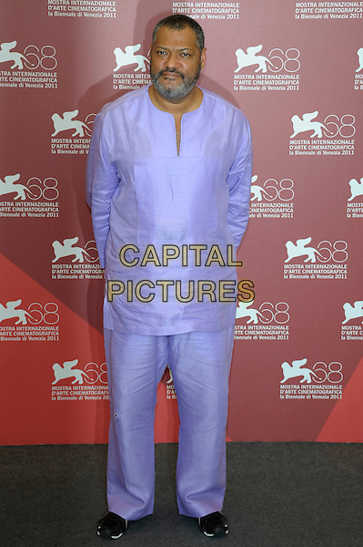 Laurence Fishburne .Attending the 'Contagion' photocall during the 68th Venice Film Festival, Venice, Italy, September 3rd, 2011..full length tunic trousers top shirt  beard facial hair purple .CAP/PL.©Phil Loftus/Capital Pictures.