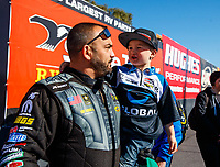 Feb 25, 2018; Chandler, AZ, USA; NHRA top fuel driver Tony Schumacher during the Arizona Nationals at Wild Horse Pass Motorsports Park. Mandatory Credit: Mark J. Rebilas-USA TODAY Sports