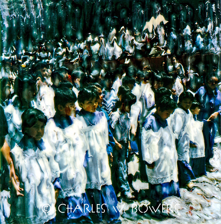 Easter celebration in San Miguel de Allende and the altar boys lead out.<br /> <br /> -Limited Edition of 50 Prints