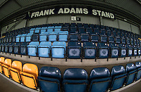 General view of The Frank Adams stand seating Wycombe Wanderers Stadium, Adams Park, High Wycombe, Bucks, England on 12 July 2015. Photo by Andy Rowland.