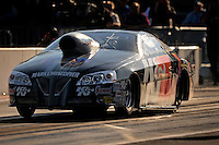 Sept. 19, 2010; Concord, NC, USA; NHRA pro stock driver Warren Johnson during the O'Reilly Auto Parts NHRA Nationals at zMax Dragway. Mandatory Credit: Mark J. Rebilas-