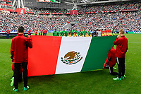 KAZAN, RUSSIA, 24.06.2017 - MEXICO-RUSSIA - Jogadores do México durante partida contra a Russia pela terceira rodada da Copa das Confederações na Arena Kazan na Russia neste sábado 24. (Foto: Etzel Espinosa/Brazil Photo Press)