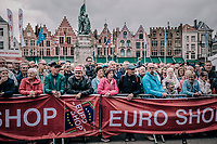 fans watching the pre race team presentation.<br /> <br /> 2nd Elfstedenronde 2018<br /> 1 day race: Brugge - Brugge 196.3km