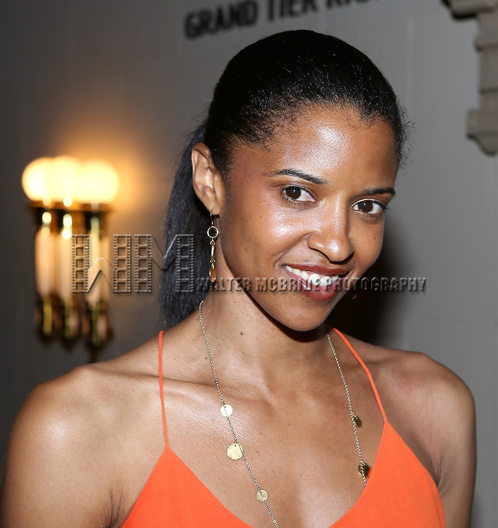 Renee Elise Goldsberry attends the after performance party for the New York City Center Encores! Off-Center production of 'Randy Newman's FAUST' - The Concert at City Center on July 1, 2014 in New York City.