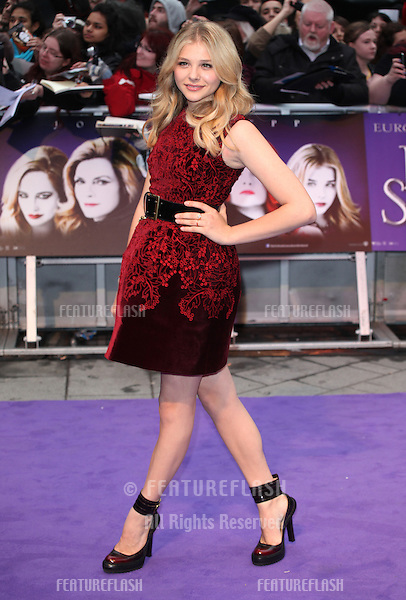 Chloe Moretz arriving for the European Premiere of 'Dark Shadows' at Empire Leicester Square, London. 09/05/2012 Picture by: Alexandra Glen / Featureflash