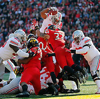 Ohio State Buckeyes running back J.K. Dobbins (2) scores a rushing touchdown against Maryland Terrapins during the 2nd quarter of their game at Capital One Field at Maryland Stadium in College Park, Maryland on November 17, 2018. [Kyle Robertson/Dispatch]