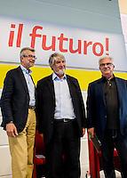 Bologna 30 agosto 2014, Festa dell'Unit&agrave;. Il ministro del lavoro Giuliano Poletti dibatte con Raffaele Bonanni (coordina Roberto Mania).<br /> Il ministro annuncia: &quot;Job Act entro l'anno&quot;.