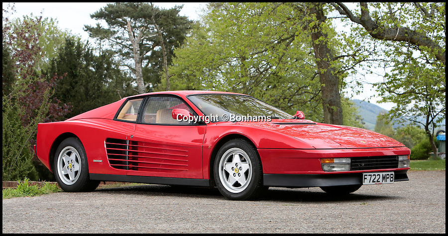 BNPS.co.uk (01202 558833)<br /> Pic: Bonhams/BNPS<br /> <br /> ***Please use full byline***<br /> <br /> From Enzo to Nigel...<br /> <br /> A stunning Ferrari supercar gifted to British Formula 1 legend Nigel Mansell when he signed for the Italian racing team has emerged for sale for 80,000 pounds.<br /> <br /> Mansell was among the world's top drivers when in 1988 he was handpicked to join Ferrari by its founder Enzo Ferrari.<br /> <br /> To mark the deal, Ferrari presented Mansell, then 35, with a top-of-the-range Testarossa supercar, the marque's flagship model.<br /> <br /> Mansell, who was then living on the Isle of Man, put 1,000 miles on the car during the two years he raced for Ferrari.<br /> <br /> The classic red Testarossa, Italian for 'red head', boasts a blistering top speed of more than 180mph courtesy of its supercharged rear-mounted 5-litre 380bhp engine.<br /> <br /> Mansell sold it in 1992, the year he won the Formula 1 World Championship with rival team Williams.<br /> <br /> The car features a plaque on the inside of the driver's door stating: &quot;This car was supplied to Nigel Mansell for his use by Ferrari in his first season (1988) with Ferrari.&quot;<br /> <br /> Bonhams - June 27th Goodwood - est &pound;80,000