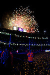 BARCELONA (16/05/2010).- Barcelona players celebrate Spanish League Championship at Camp Nou Stadium. Fireworks at stadium...Photo. Gregorio / ALFAQUI