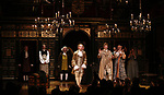 Sam Crane with Mark Rylance and the cast during the Broadway Opening Night performance Curtain Call Bows for 'Farinelli and the King' at The Belasco Theatre on December 17, 2017 in New York City.
