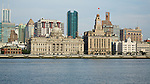 The Shanghai Bund: China Merchants Building, HSBC, Custom House, Bank Of Communications.