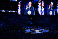 Washington, DC - March 20, 2016: U.S. Vice President Joe Biden speaks before an estimated 18,000 attendees of the AIPAC Policy Conference at the Verizon Center in the District of Columbia, March 20, 2016. AIPAC is engaged in promoting and protecting the U.S.-Israel relationship to enhance security for both countries. (Photo by Don Baxter/Media Images International)