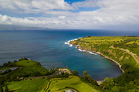 Aerial view of Honolua Bay, Maui.