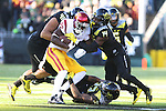 Nov 21, 2015; Eugene, OR, USA; Oregon Ducks cornerback Ugo Amadi (14) defends USC Trojans running back Justin Davis (22) at Autzen Stadium. <br /> Photo by Jaime Valdez