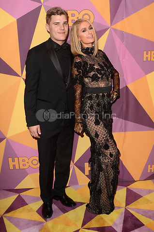 BEVERLY HILLS, CA - JANUARY 7: Chris Zylka, Paris Hilton at the HBO Golden Globes After Party, Beverly Hilton, Beverly Hills, California on January 7, 2018. Credit: <br /> David Edwards/MediaPunch