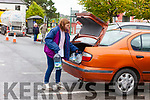 Sheila Horan from the Square Listowel loading up her car with water on Monday Morning in Listowel after a fault meant that thousands of homes were left without water for over 24 hours.
