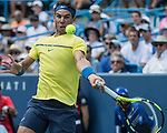 August  18, 2017:  Rafael Nadal (ESP) defeated Albert Ramos-Vinolas (ESP) 7-6, 6-2, at the Western & Southern Open being played at Lindner Family Tennis Center in Mason, Ohio. ©Leslie Billman/Tennisclix/CSM