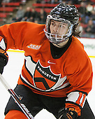 Aaron Kesselman (Princeton - 11) - The Harvard University Crimson defeated the visiting Princeton University Tigers 5-0 on Harvard's senior night on Saturday, February 28, 2015, at Bright-Landry Hockey Center in Boston, Massachusetts.