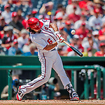 16 August 2017: Washington Nationals third baseman Anthony Rendon in action against the Los Angeles Angels at Nationals Park in Washington, DC. The Angels defeated the Nationals 3-2 to split their 2-game series. Mandatory Credit: Ed Wolfstein Photo *** RAW (NEF) Image File Available ***
