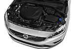 Car Stock 2016 Volvo S60 R-Design 4 Door Sedan Engine  high angle detail view