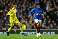 Lassana Coulibaly of Rangers gets away from Pablo Fornals of Villarreal CF during Rangers vs Villarreal CF, UEFA Europa League Football at Ibrox Stadium on 29th November 2018