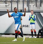 Alfredo Morelos celebrates his goal