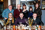 Niall Harty, Tralee, who celebrated his 30th Birthday with family and friends, at Croí restaurant, Tralee, front l-r: Rosalynd Hayes, Niall Harty, Ashton Harty. Harry Harty, Frank Harty, Frances Harty, Alannah Hendrick Cuddihy and Annette Hendrick Cuddihy.
