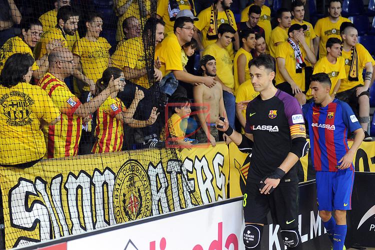 League LNFS 2016/2017 - Game 4.<br /> FC Barcelona Lassa vs Gran Canaria FS: 4-2.<br /> Paco Sedano &amp; Aicardo.