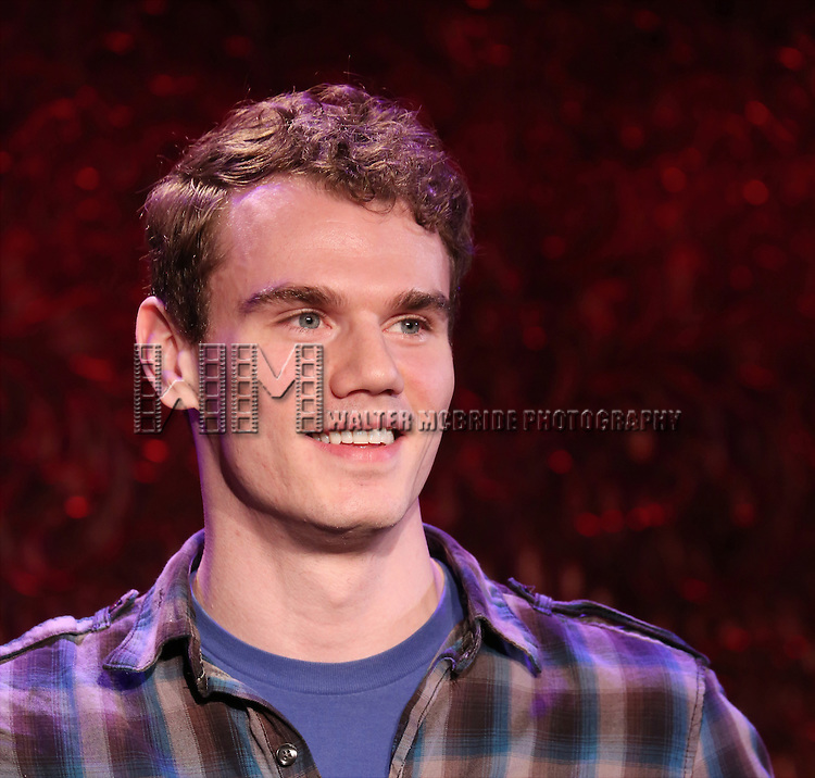 Jay Armstrong Johnson performing in a preview of 'SRO at 54 Below' at 54 Below on January 22, 2015 in New York City.
