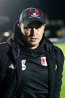 Leyton Orient manager, Ross Embleton during the The Leasing.com Trophy match between AFC Wimbledon and Leyton Orient at the Cherry Red Records Stadium, Kingston, England on 8 October 2019. Photo by Carlton Myrie / PRiME Media Images.