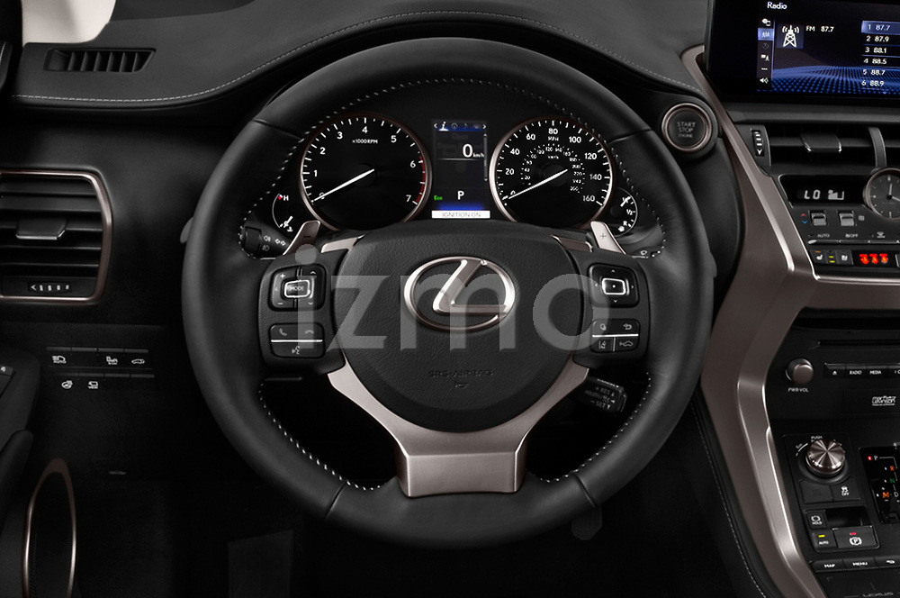 Car pictures of steering wheel view of a 2018 Lexus NX 300 FWD 5 Door SUV