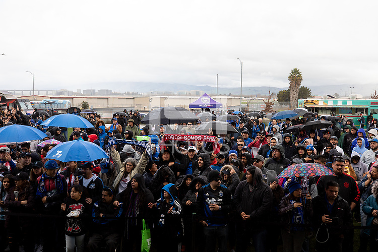 San Jose, CA: 01212019: San Jose Earthquakes Meet and Greet with Matias Almeyda at Avaya Stadium on Sunday January 21, 2019.