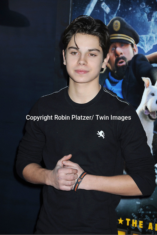 """actor Jake T Austin attends The US Premiere of """" The Adventures of TinTin""""..on December 11, 2011 at The Ziegfeld Theatre in New York City."""