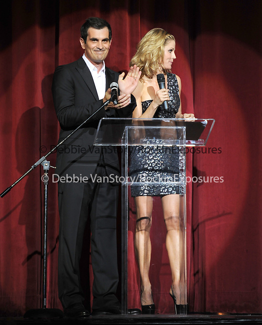 Ty Burrell and Julie Bowen at the Les Girls 10th Annual Cabaret fundraiser for National Breast Cancer Coalition Fund -NBCCF- held at Avalon in Hollywood, California on October 04,2010                                                                               © 2010 Debbie VanStory / RockinExposures