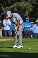 Xander Schauffele (USA) watches his putt on 7 during round 1 of the World Golf Championships, Mexico, Club De Golf Chapultepec, Mexico City, Mexico. 2/21/2019.<br /> Picture: Golffile | Ken Murray<br /> <br /> <br /> All photo usage must carry mandatory copyright credit (© Golffile | Ken Murray)