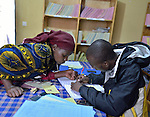 Insurance verification at Gisenyi District Hospital, Rwanda