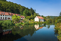 Germany, Baden-Wuerttemberg, Tauber Valley, Werbach - district Gamburg: at river Tauber | Deutschland, Baden-Wuerttemberg, Taubertal, Werbach - Ortsteil Gamburg: an der Tauber